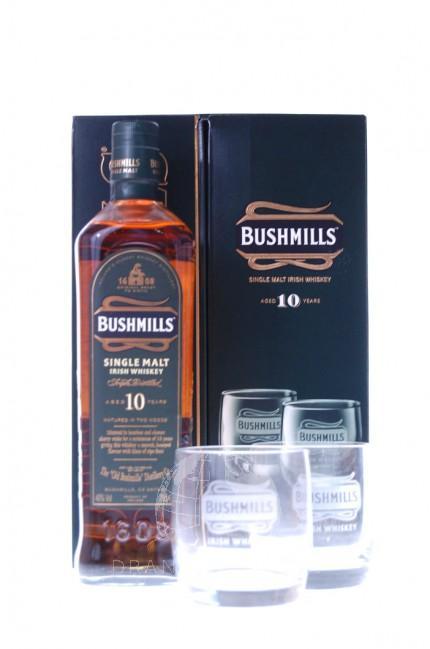 Bushmills 10 Years Giftpack + 2 Glazen
