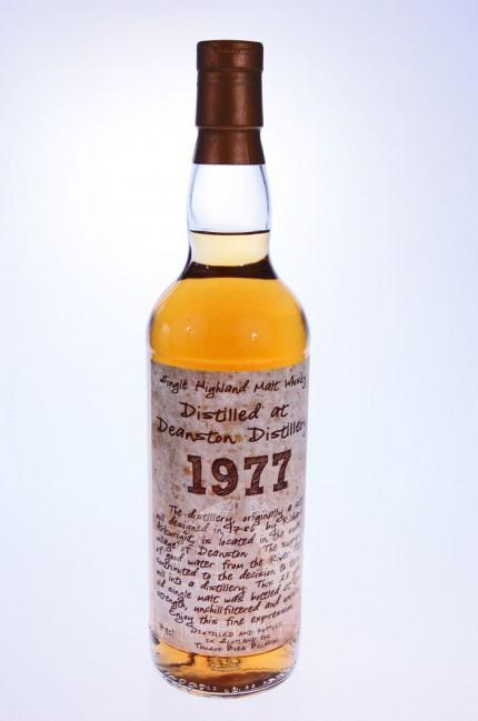Deanston 1977 : Thosop handwritten label