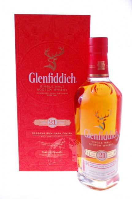Glenfiddich 21 Years  Single Malt Whisky Reserva Rum Cask Finish