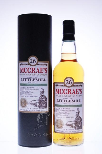 Littlemill 26 Years McCrae's Single Cask Strength Single Malt Whisky