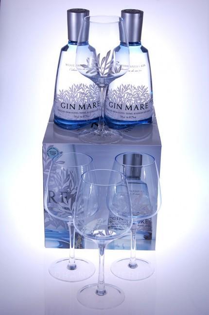 Mare Gin Luxe Giftset 2 Flessen + 4 Glazen