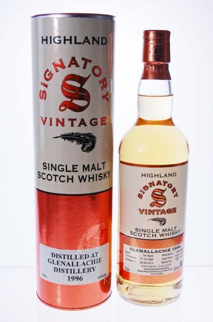 Glenallachie Signatory Vintage 1996 Single Malt Whisky
